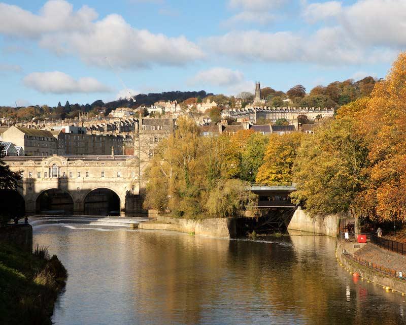 Pulteney Bridge and Weir, Bath, Angleterre