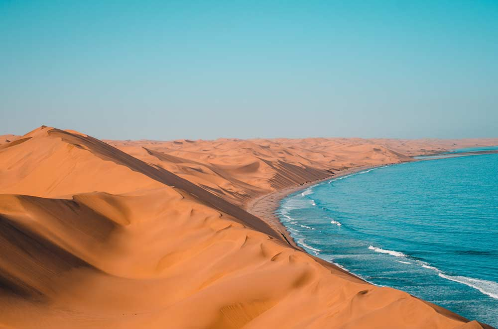 Where desert meets the sea, Sandwich Harbour, Namibia