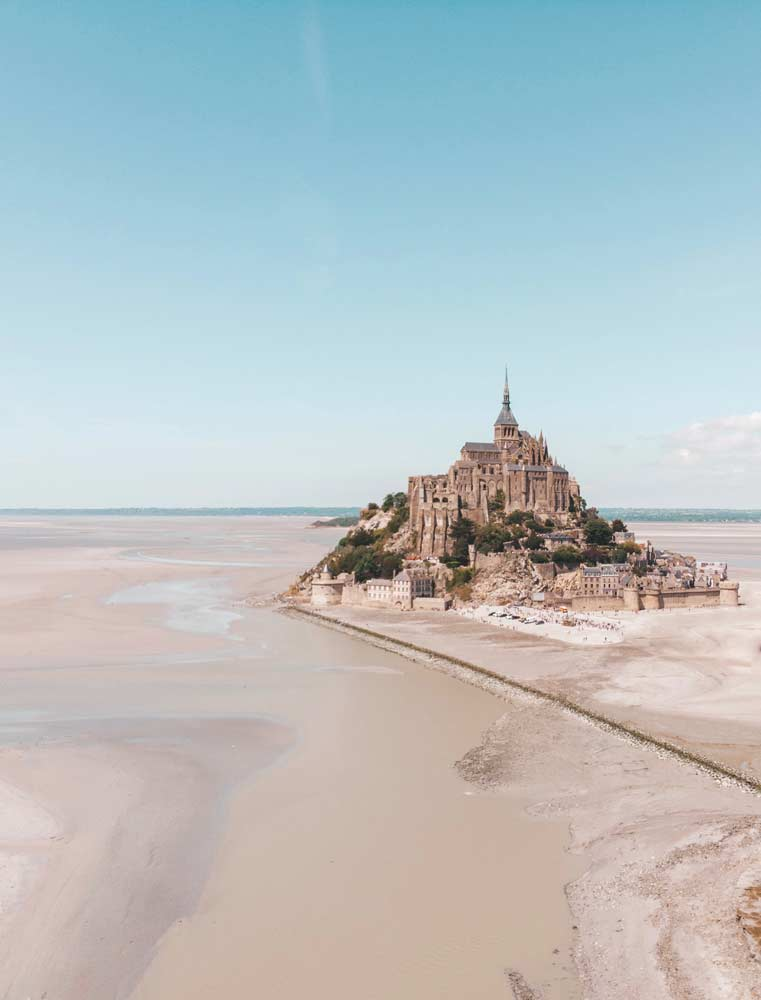 Mont St Michael at low tide