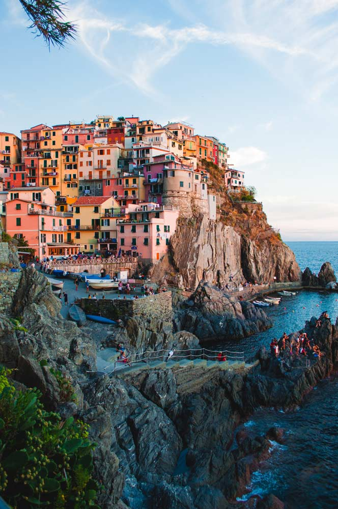 The Cliffs of Cinque Terre on the Amalfi Coast