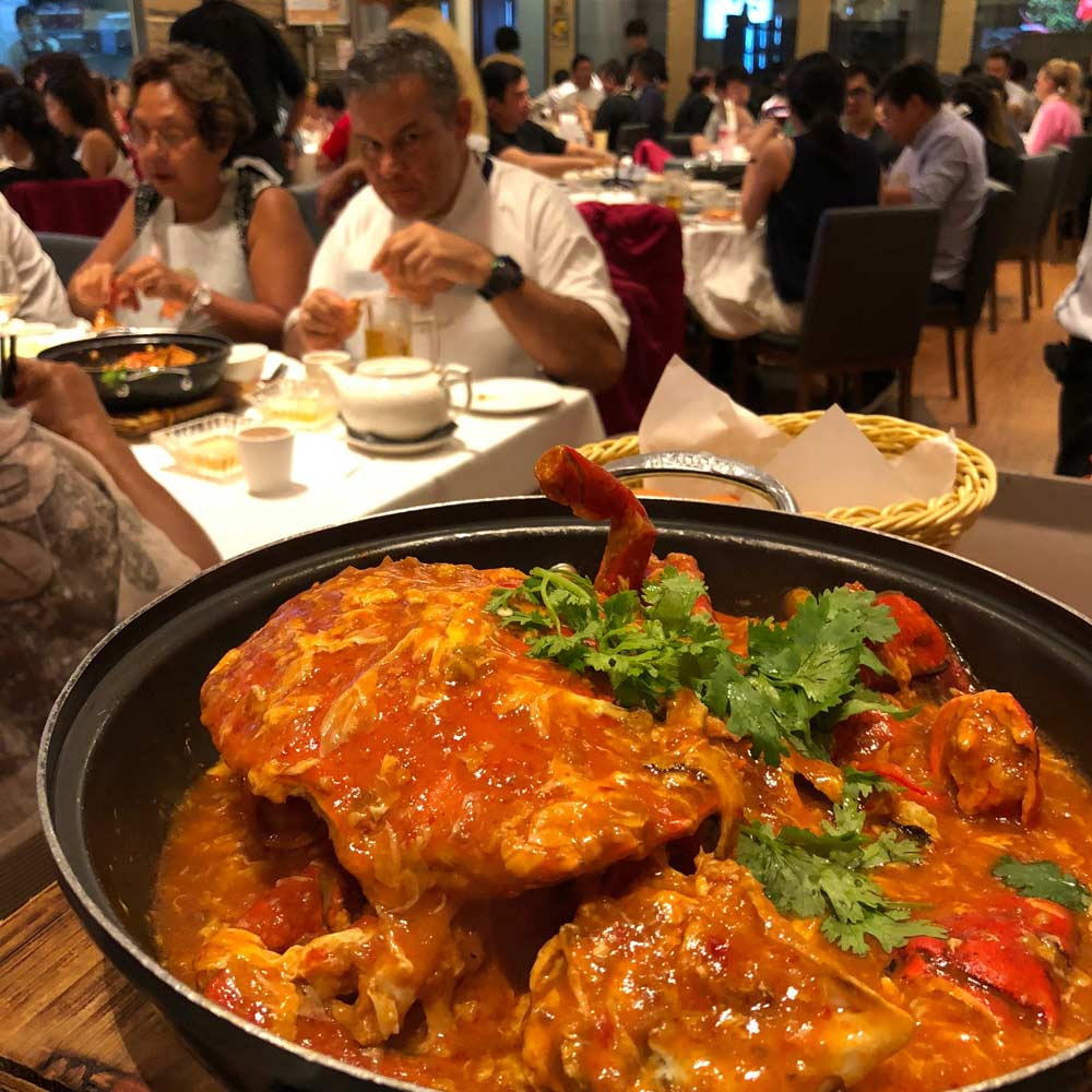 The famous Chilli Crabs