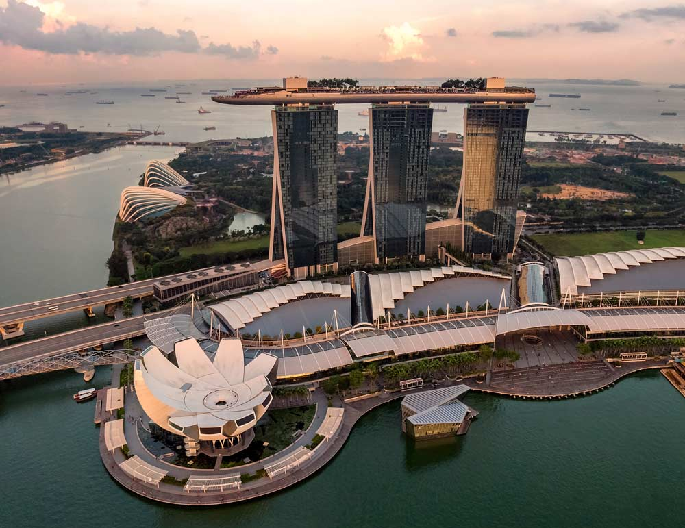 The famous Marina Bay Sands Hotel