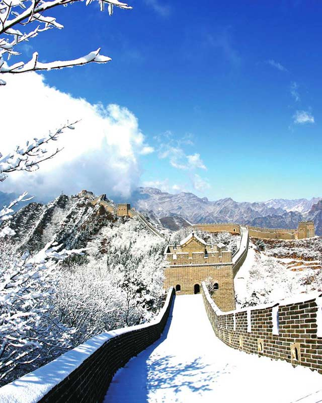 Great Wall of China in the snow