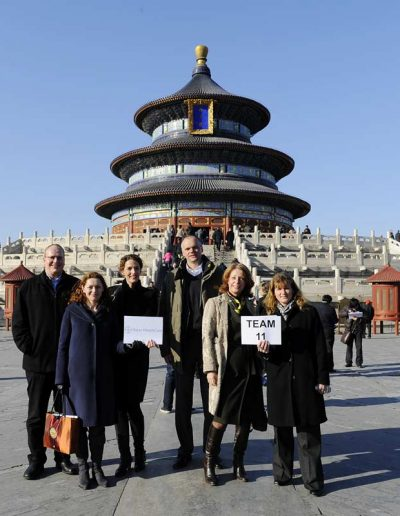 In front of the Temple of Heaven – Destination China