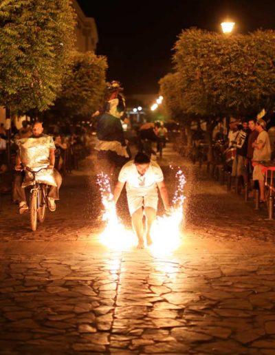 Man with sparklers, Granada, Nicaragua