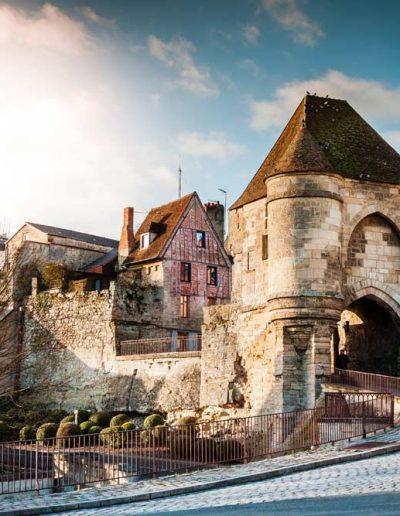 Medieval Ardon's gate, France