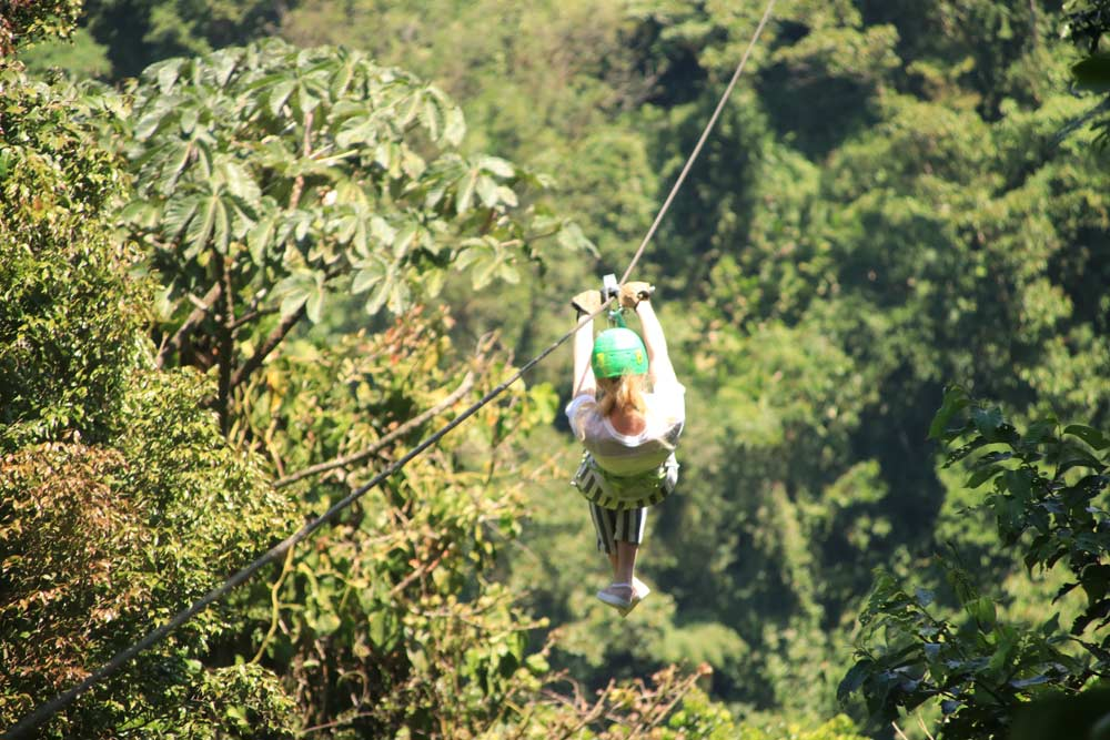 Ziplining in the jungle