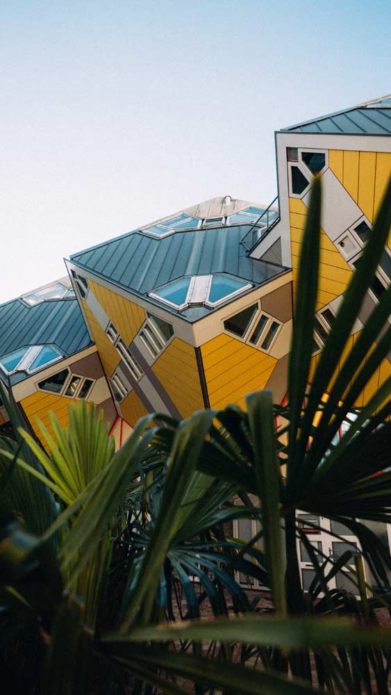 Unique architecture of the Cube Houses, Rotterdam
