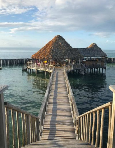 Bungalow over the water in Belize